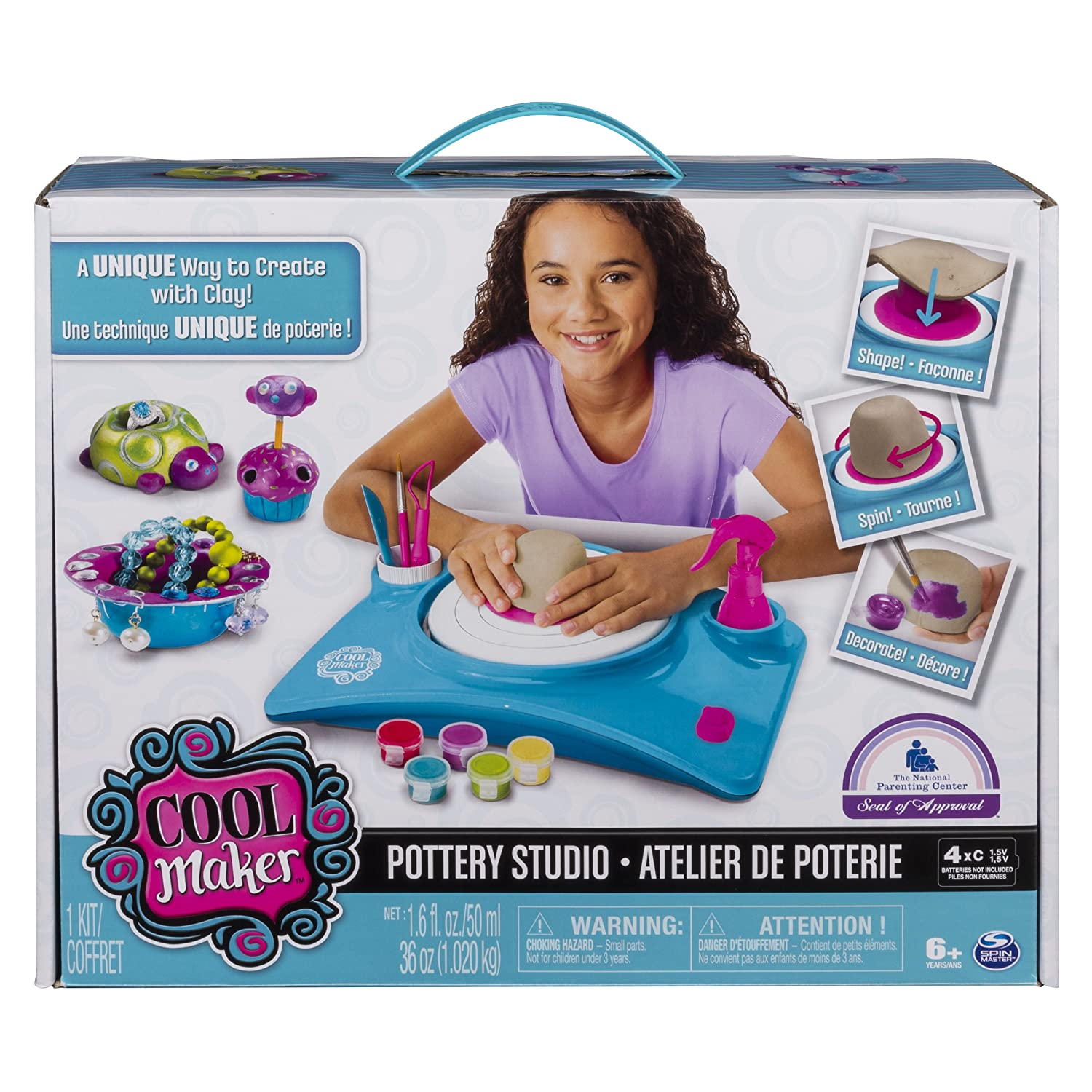 Amazon Cool Maker Pottery Studio by Spin Master Packaging
