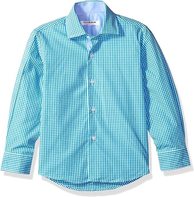Isaac Mizrahi Boys Cotton Polka Dot Button Down