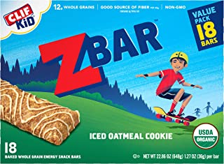 product image for Clif Kid ZBAR - Organic Granola Bars - Iced Oatmeal Cookie - (1.27 Ounce Energy Bars, Kids Snacks, 18 Count) (2 Pack(18 Count))