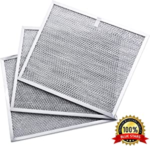 """BPS1FA30 Range Hood Filter Grease Filter 99010299 11-3/4"""" X 14-1/4"""" X 3/8"""" Replacement part by Blue Stars for Broan QS1 30"""" and NuTone Allure 30"""" WS1 - PACK OF 3"""