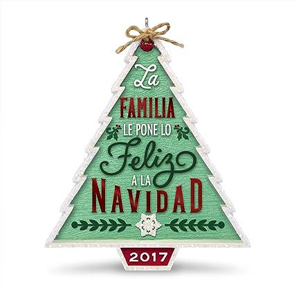 ec47b7a37ab0e Image Unavailable. Image not available for. Color  Hallmark Keepsake 2017  Nuestra Familia...Nuestra Navidad Dated Christmas Ornament