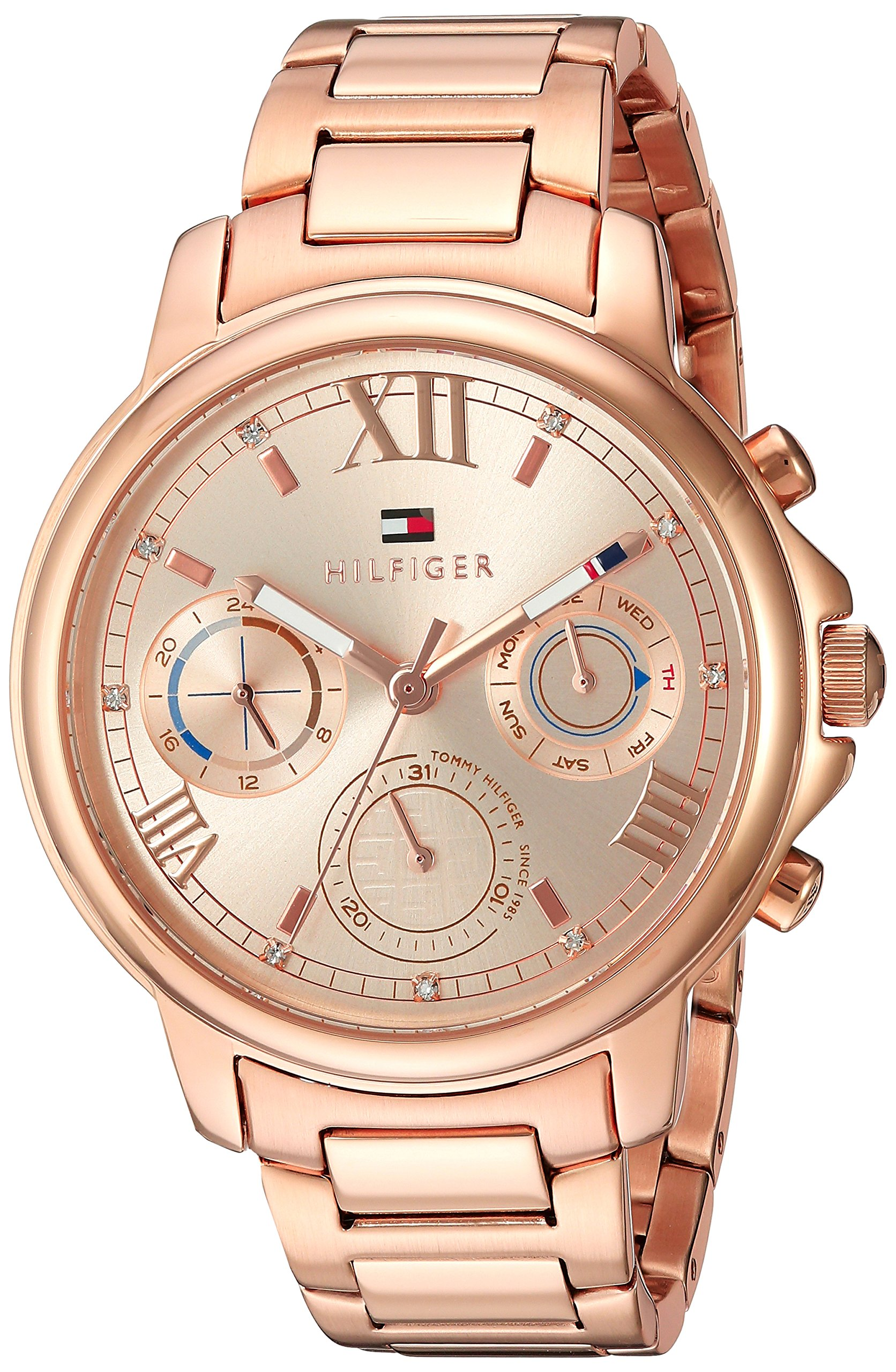 Tommy Hilfiger Women's 'CLAUDIA' Quartz Stainless Steel Casual Watch, Color:Rose Gold-Toned (Model: 1781743) by Tommy Hilfiger