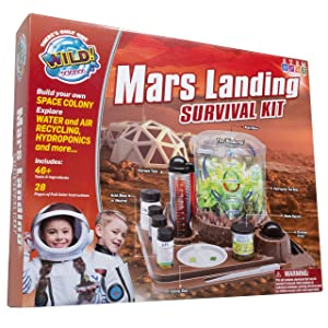WILD! Science Mars Landing Survival Kit - Engineering and Botany STEM Kit for Kids Aged 8+ - Build a Biodome, Grow Food and Conduct Survival Experiments (Seeds not Included)