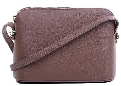 En cuir souple italien fait main petite gris clair sangle bandoulière réglable avec porte compartiment Triple Cross Body ou sac à main.Comprend un sac de rangement protecteur marque. FvCoRG