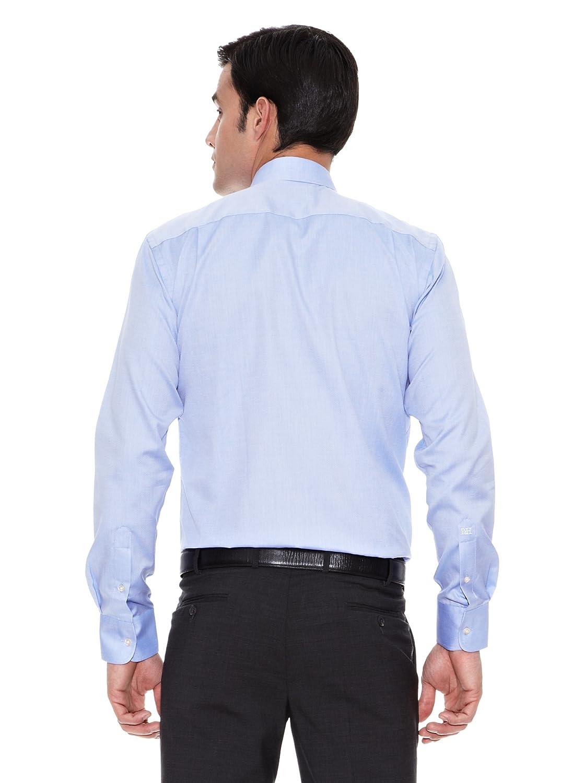 Pedro del Hierro Camisa Moda Vestir Thomas Mason Oxford Azul L ...