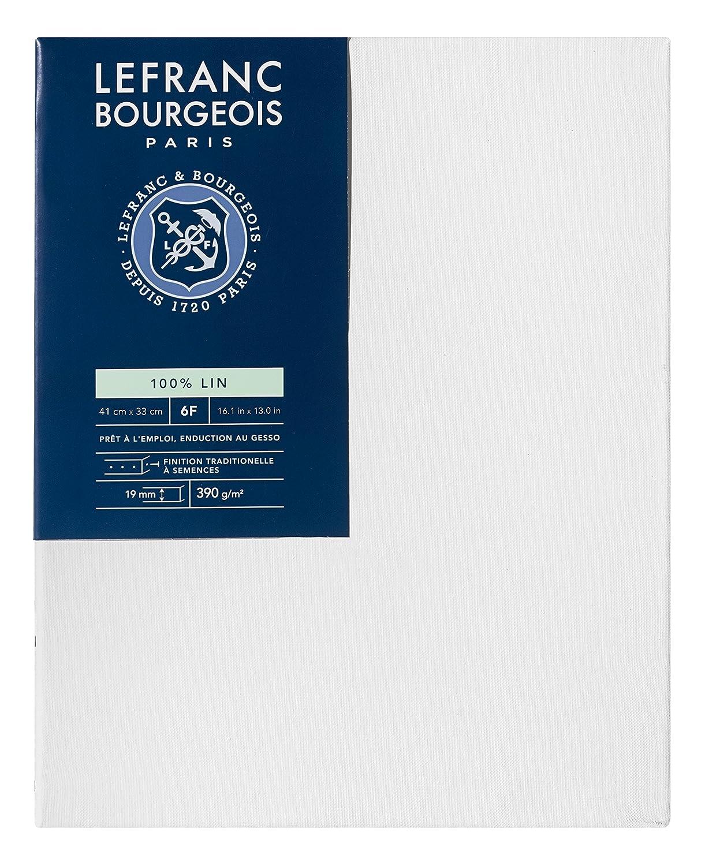 Lefranc Bourgeois Telaio telato 100% Lino - 41 x 33 cm - spessore 1, 9 cm Colart 111161