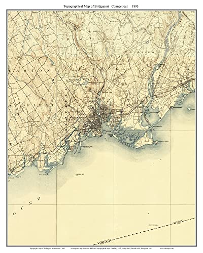 Amazon.com: Bridgeport 1893 Long Island Sound, Connecticut ...