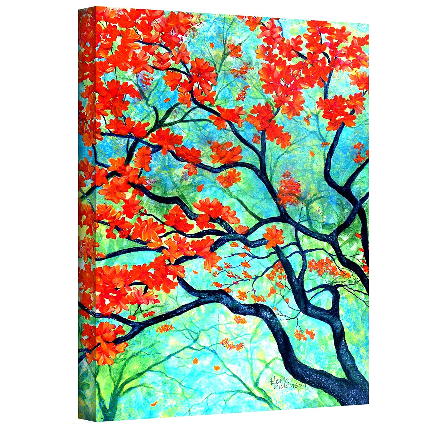 32 by 24-Inch The Art Wall Herb-089-32x24-w ArtWall Spring Joy Gallery Wrapped Canvas Artwork by Herb Dickinson