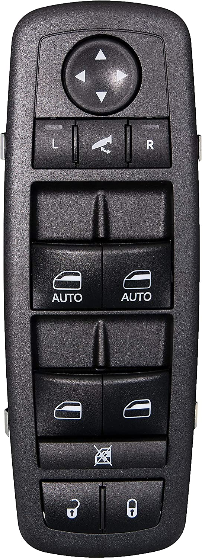 APDTY 133780 Master Power Window, Door Lock Unlock, Power Folding Mirror Switch Fits 2012-2016 Town & Country 2012-2017 Dodge Grand Caravan (With Power Sliding Side Doors; Replaces 68110872AA)