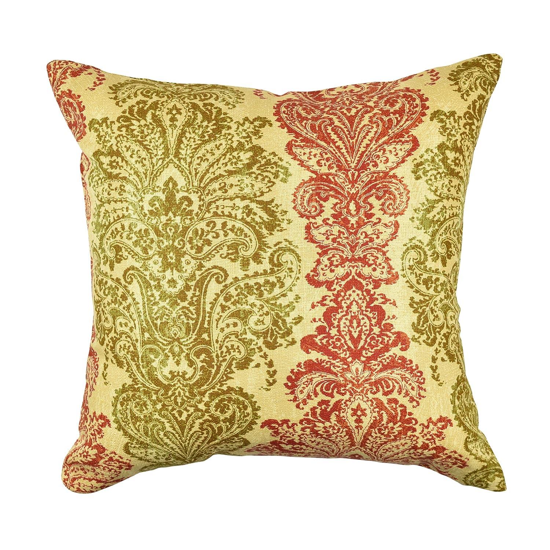 Vesper Lane dm05ywz18iダマスクDesigner Throw枕 18 Inch イエロー DM05YWZ18I 18 Inch Yellow Damask Designer Throw Pillow-18\ B075NBPCTX