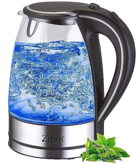 Glas Wasserkocher 2000W Glaswasserkocher LED Beleuchtung NEU