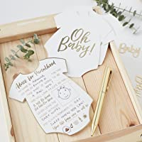 Ginger Ray Gold Foiled Baby Shower Advice for the Parents Cards 10 Pack