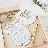 Ginger Ray OB-104 White & Gold Foiled Baby Shower