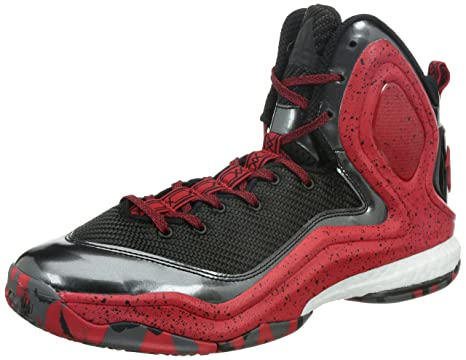 adidas D Rose 5 Boost Zapatillas de Baloncesto, Color Negro y Rojo ...