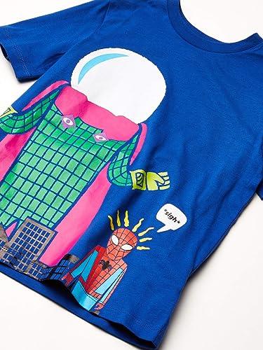 Marke Spotted Zebra M/ädchen fashion-t-shirts 2er-pack Kurzarm R/üschen T-shirts