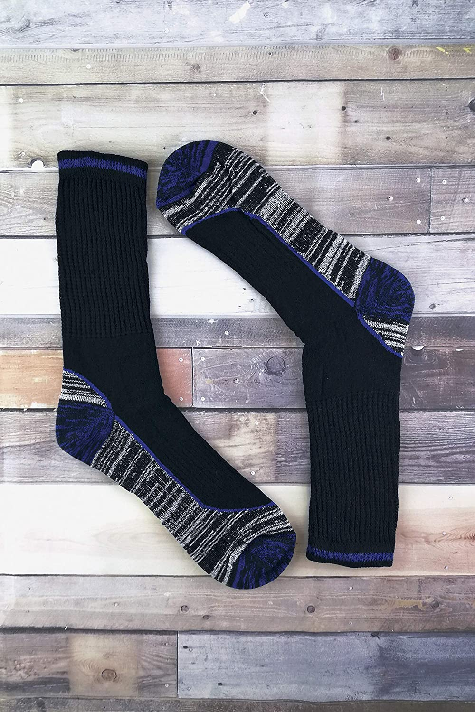 Mens Anti Sweat Moisture Wicking Summer Bamboo Work Socks for Steel Toe Boots