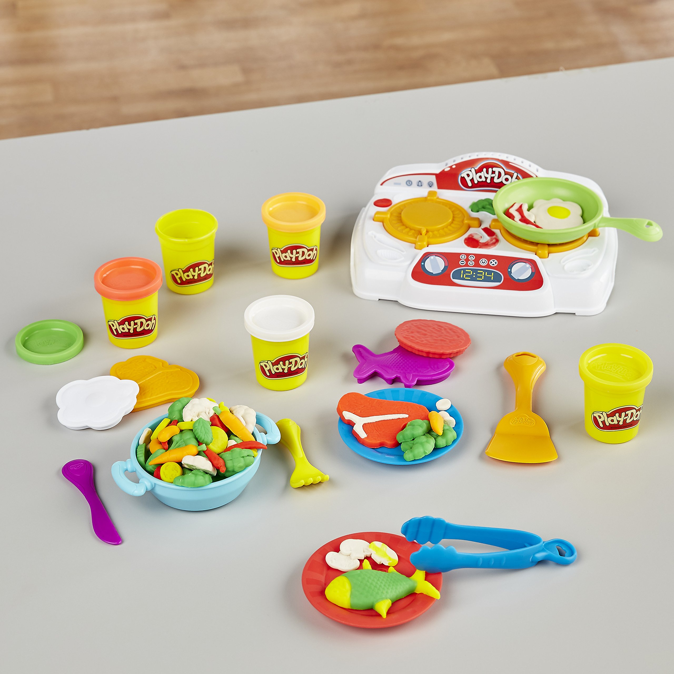Play-Doh - B9014 - Kitchen Creations Sizzling Stovetop by Play-Doh (Image #7)
