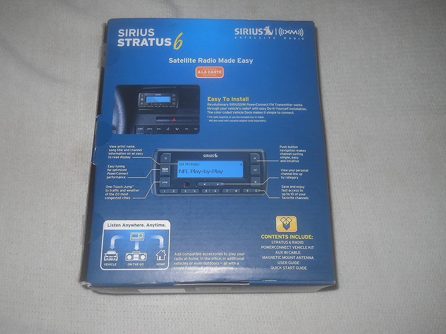 Amazon sirius stratus 6 dock and play radio with car kit black amazon sirius stratus 6 dock and play radio with car kit black car electronics solutioingenieria Image collections