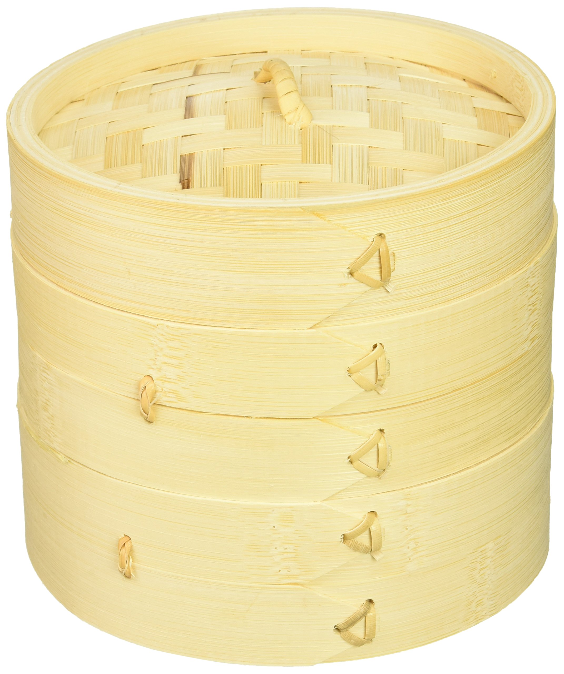Town Food Service 34206 6'' Bamboo Steamer Set