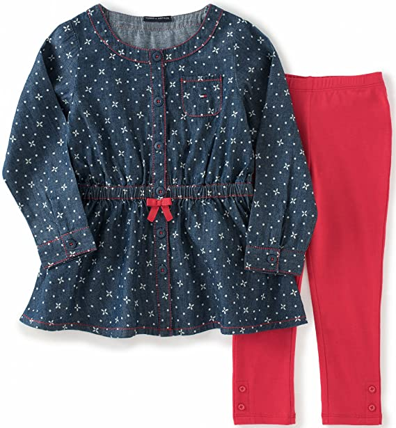 Tommy Hilfiger Baby Girls Baby Dress Tunic With Leggings Set Amazon