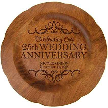 26eb8e2d612 LifeSong Milestones Personalized 25th Wedding Anniversary Plate Gift for  Her