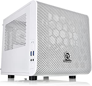 Thermaltake Core V1 Snow Edition SPCC Mini ITX Cube Computer Chassis CA-1B8-00S6WN-01