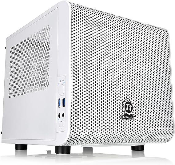Thermaltake Core V1 Snow Edition SPCC Mini ITX Cube Computer Chassis CA-1B8-00S6WN-01
