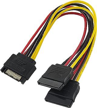 Poppstar - 1x 15 cm Sata Y Cable de alimentación (Sata 15-Pin, 1x ...