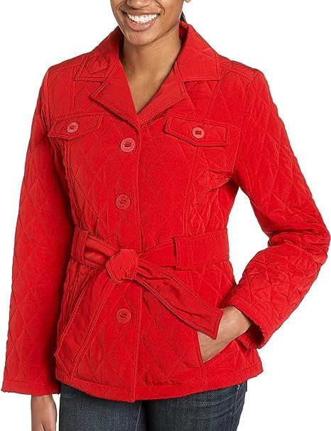 JacketCherryLarge Esprit Quilted Amazon Women's at 2EYeW9DHIb