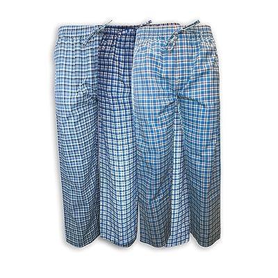 AMERICAN HEAVEN Men's 3 Pack Lounge Pajama Sleep Pants/Drawstring & Pockets Designer Woven Pant Bottoms at Men's Clothing store