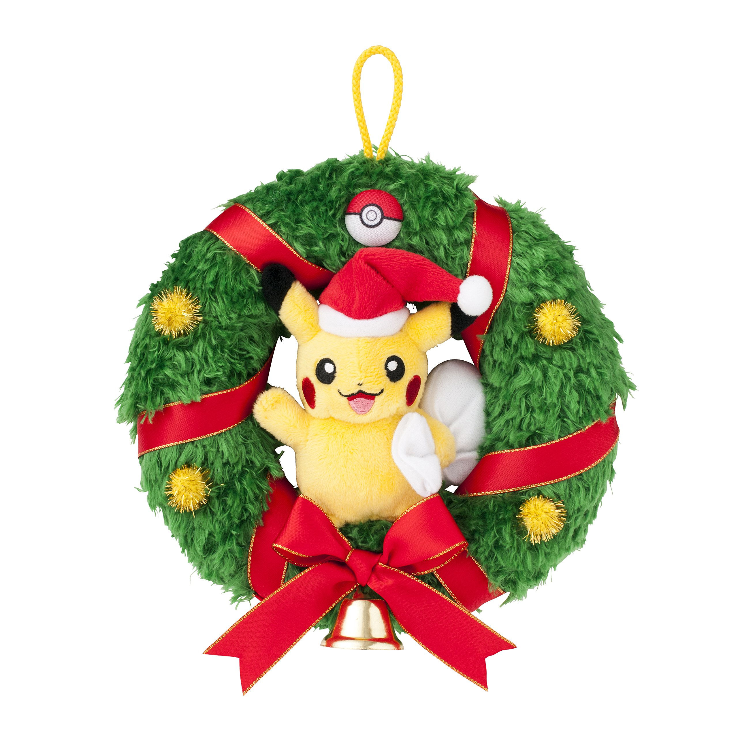 Pikachu Christmas Ornament.Pikachu Plush Christmas Wreath Pokemon Center Original Version