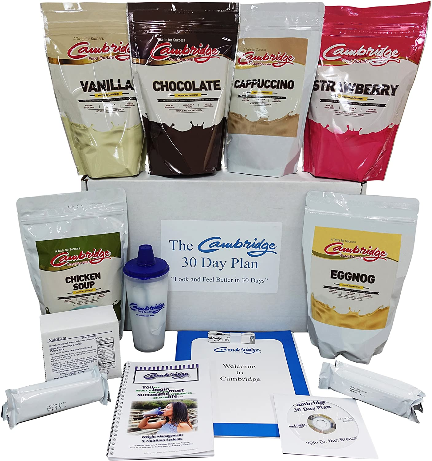 30 Day Sampler Pack Food For Life Cambridge Diet Plan Weight Loss Shakes