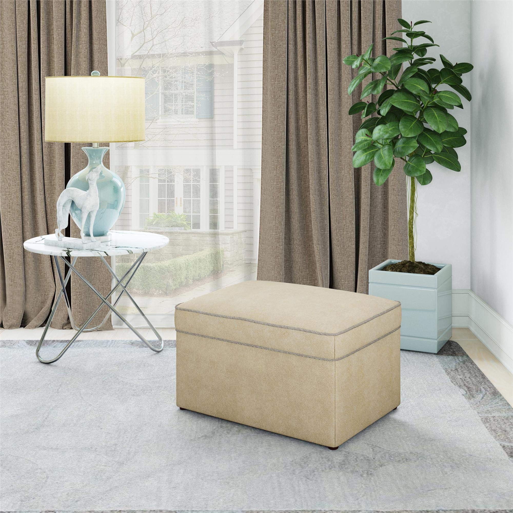 Baby Relax The Hadley Nursery Storage Ottoman for Baby Gliders, Beige Beige by Baby Relax