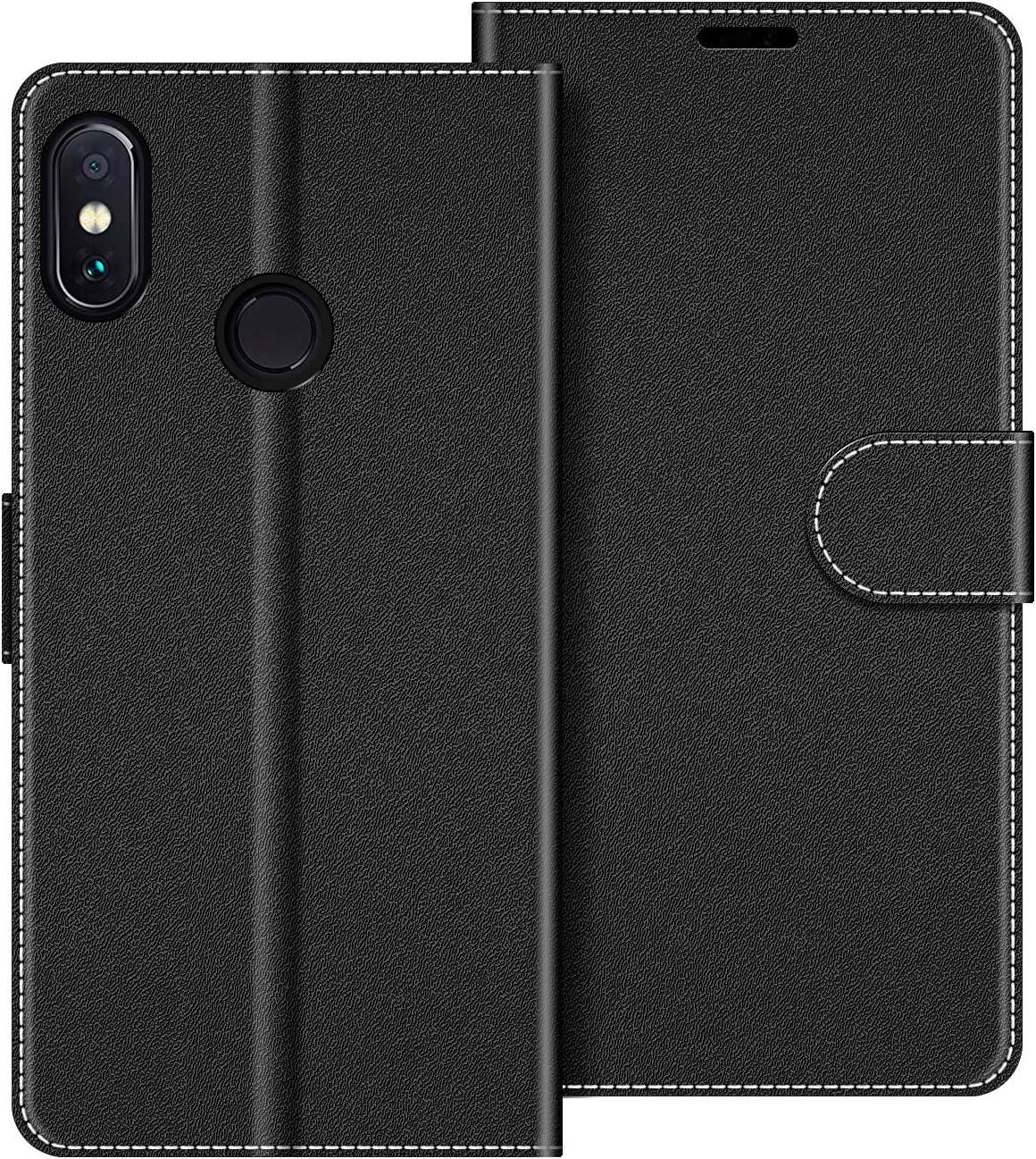 COODIO Funda Xiaomi Redmi Note 6 Pro con Tapa, Funda Movil Xiaomi Redmi Note 6 Pro, Funda Libro Xiaomi Redmi Note 6 Pro Carcasa Magnético Funda para Xiaomi Redmi Note 6 Pro, Negro
