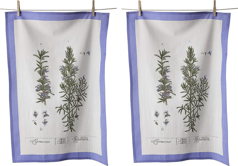 KAF Home Flour Sack Kitchen Dish Tea Towel, Set of 2, 100-Percent Cotton, 20 x 30-Inch (Rosemary)