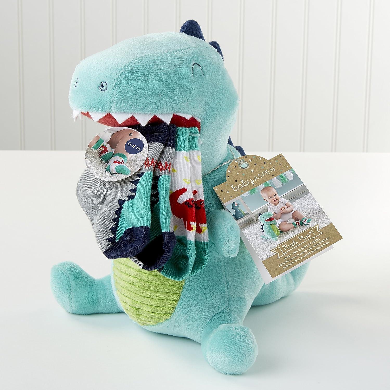Amazon.com : Baby Aspen, Doug the Dinosaur Plush with Socks for Baby : Baby