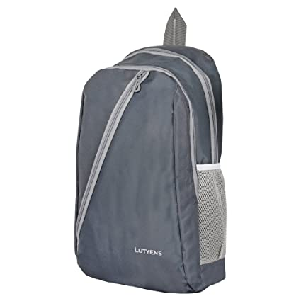 95c65096a5 Lutyens 21 L Grey Polyester Mini Backpack  Amazon.in  Bags
