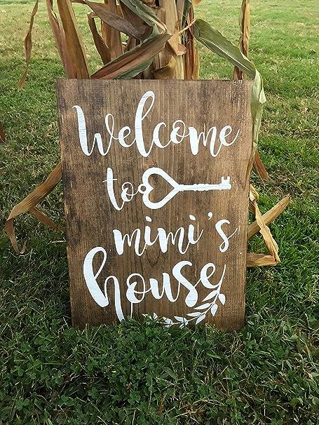 CELYCASY Welcome to Mimis House   Cartel de la casa de la ...