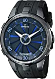 Perrelet Men's A1051/5 Turbine XL Stainless Steel Watch With Black Rubber Band