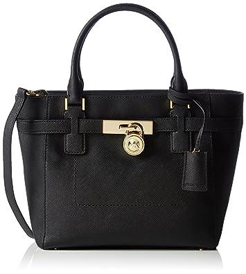 69cda7b6dd5c Michael Kors Hamilton MD TZ Tote BLACK  Handbags  Amazon.com