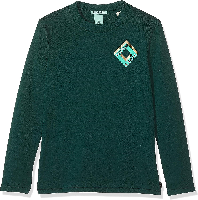 Scotch /& Soda Long Sleeve Logo Tee T-Shirt /À Manches Longues Gar/çon