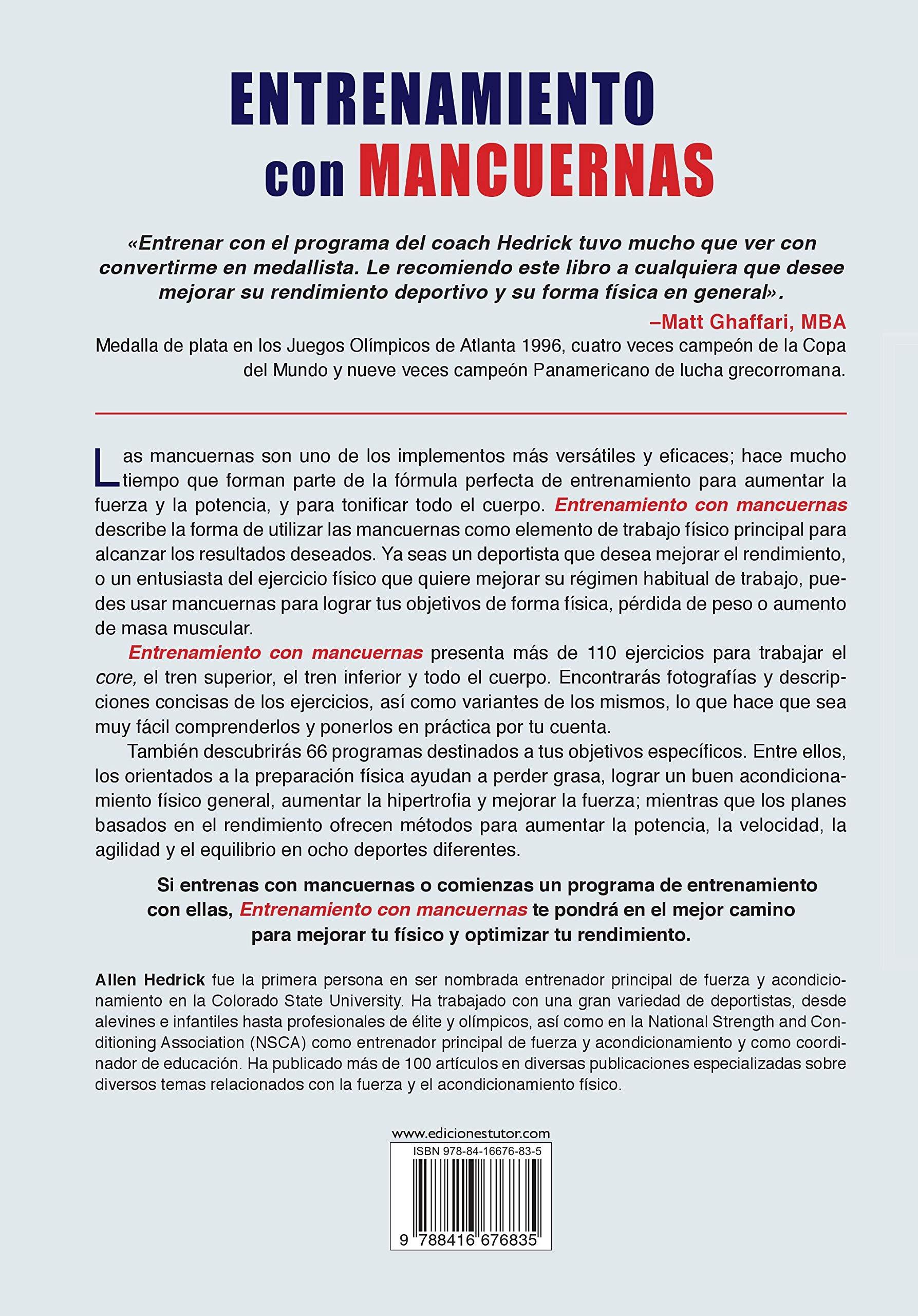 Entrenamiento Con Mancuernas: Amazon.es: Hedrick, Allen ...