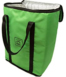 Reusable Insulated Bag. Premium Freezer Tote Bag- keep your groceries cold or hot with Reinforced Carrying Handles by CarryWell