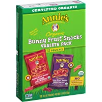 12-Pack Annies Organic Bunny Fruit Snacks Variety Pack 9.6 Ounce