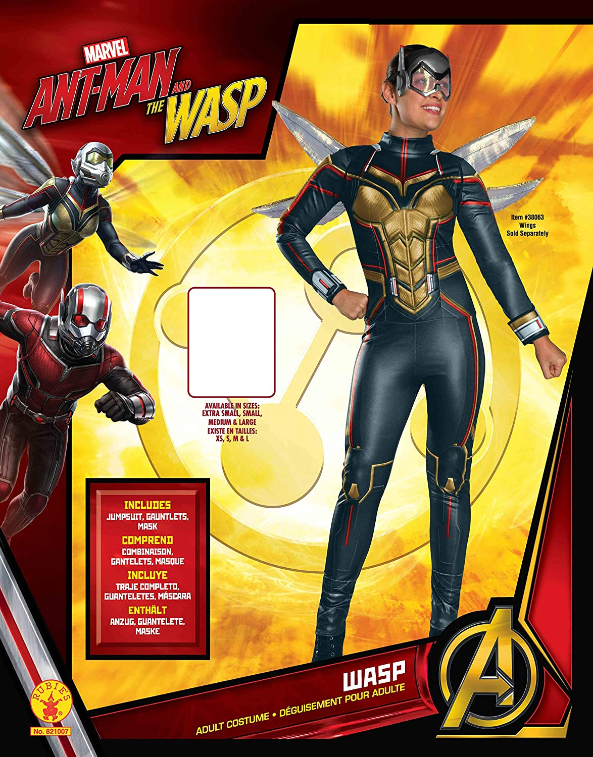 Ant-man - Disfraz Wasp Movie AD (Rubies 821007-S): Amazon.es: Productos para mascotas
