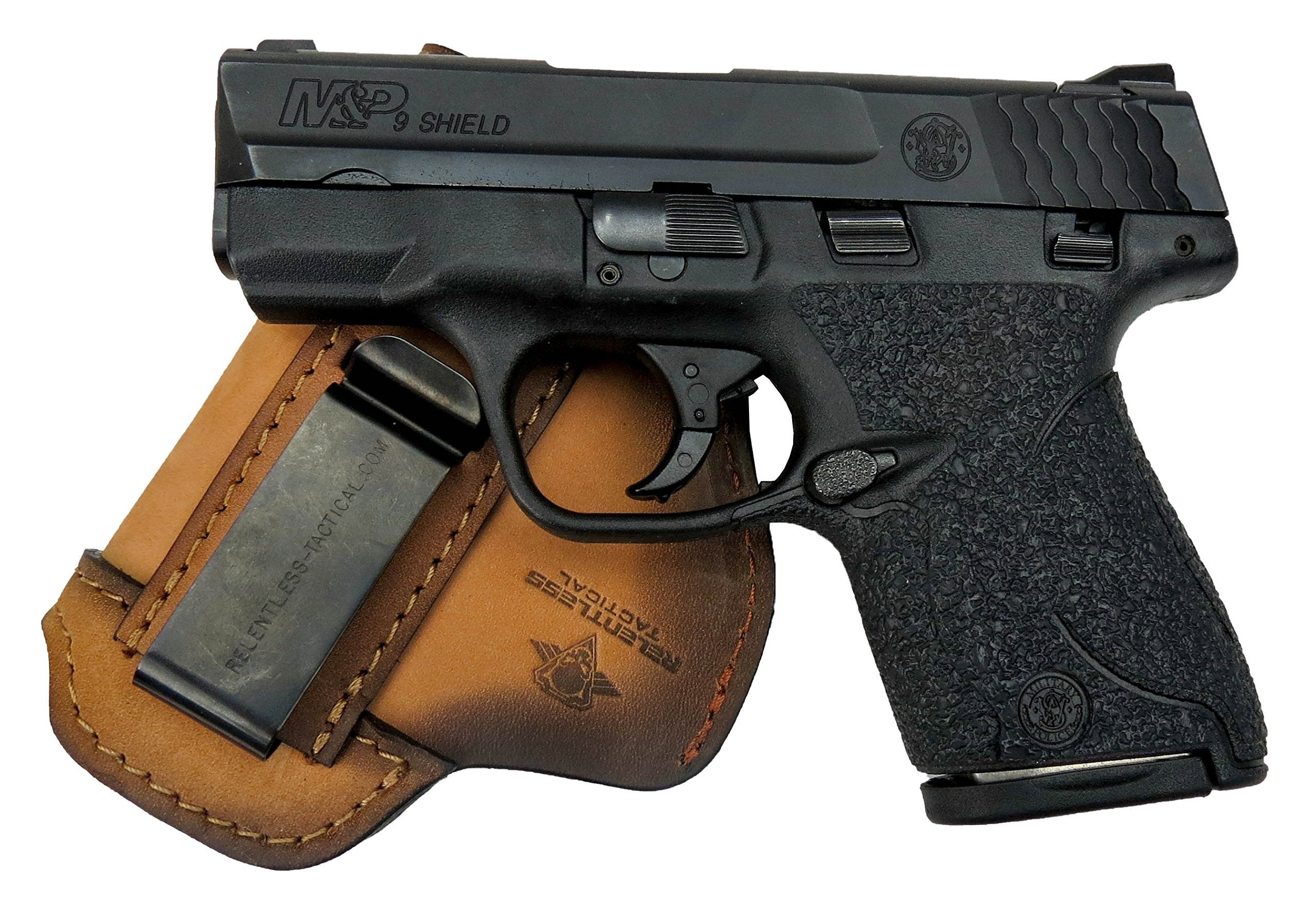 Relentless Tactical The Defender Leather IWB Holster - Made in USA - For S&W M&P Shield - GLOCK 17 19 22 23 32 33/Springfield XD & XDS/Plus All Similar Sized Handguns – Charred Oak – Right Handed by Relentless Tactical (Image #8)