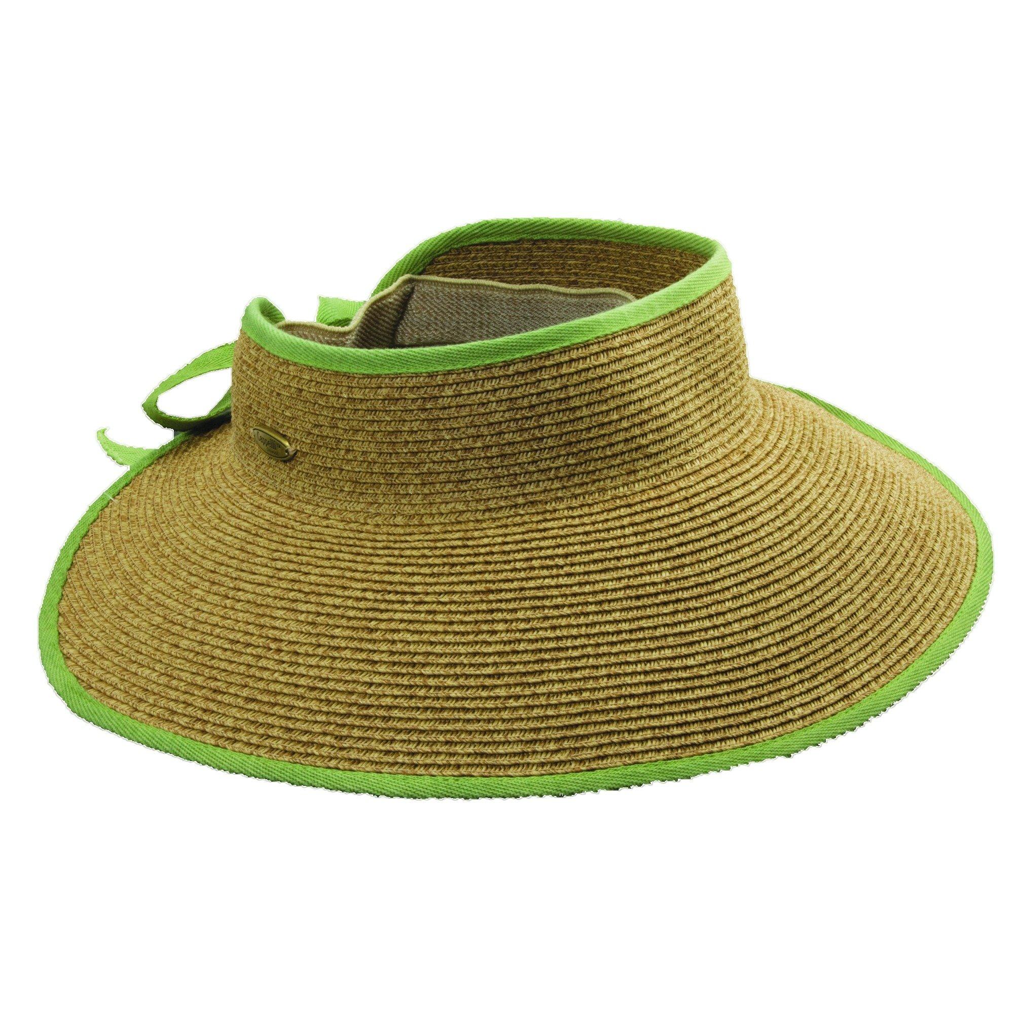 Cappelli Women's Roll-up Wide Brim Sun Visor Hat (Lime)