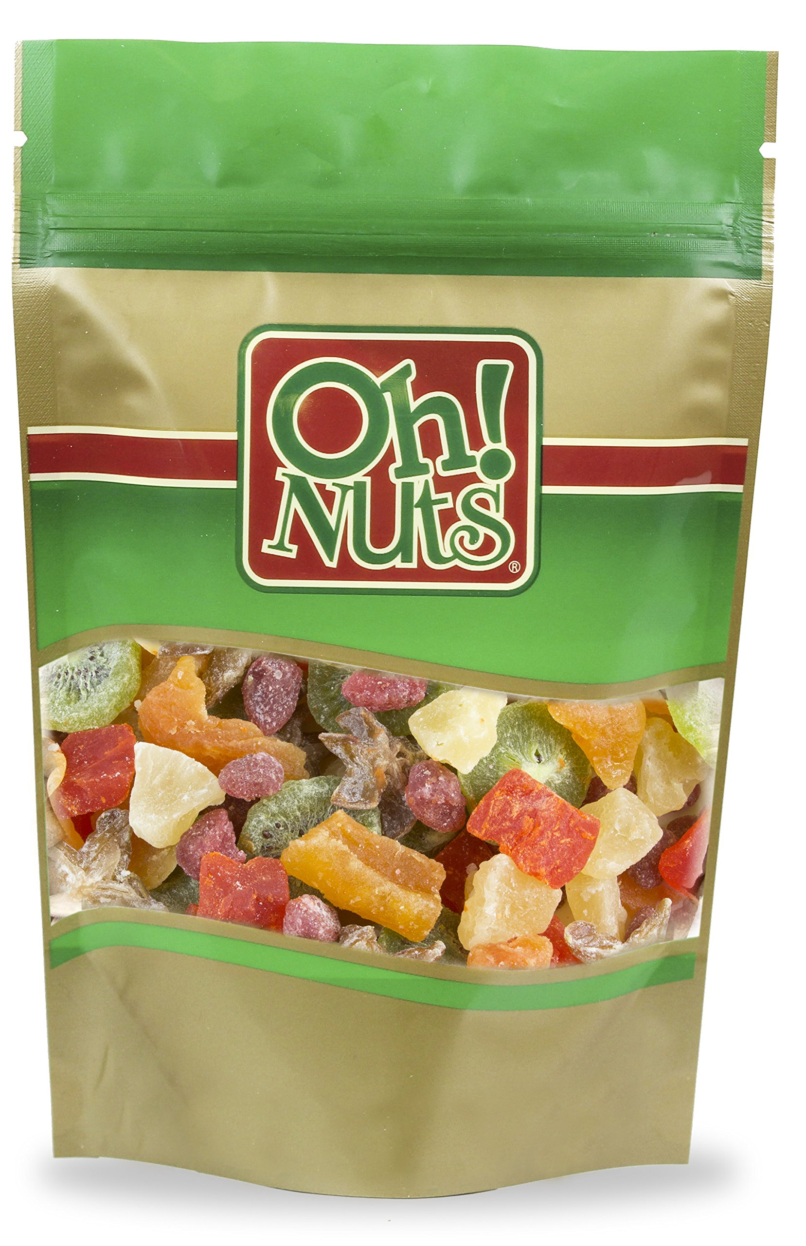 Dried Fruit Salad Tropical Sweetened - Oh! Nuts (1LBS Mixed Dried Fruit)