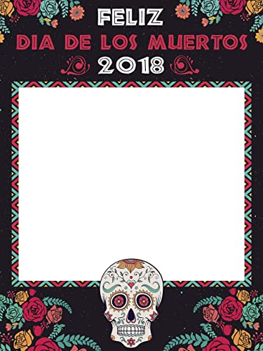 Amazoncom Colorful Day Of The Dead Photo Booth Frame Sizes 36x24