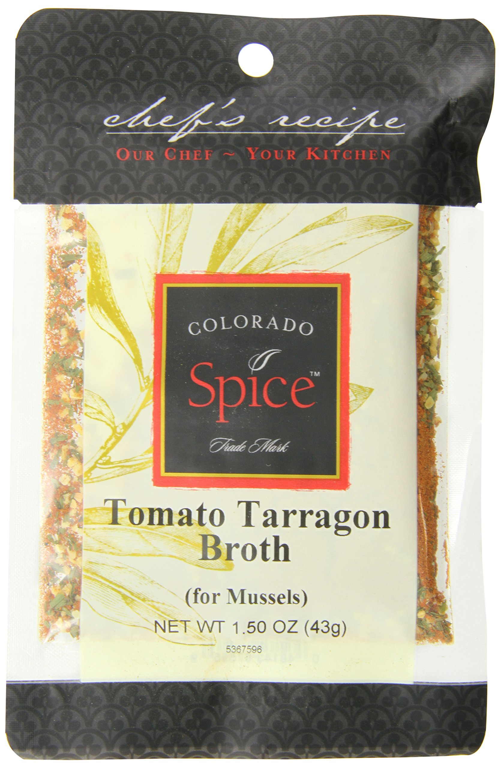 Colorado Spice Tomato Tarragon Broth for Mussels, 1.5 Ounce (Pack of 12)